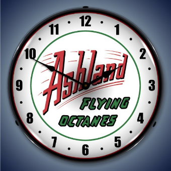 ASHLAND GAS  BACKLIT LIGHTED CLOCK