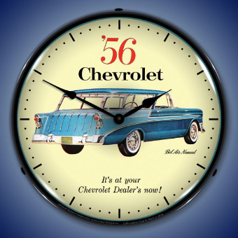 1956 CHEVROLET NOMAD  BACKLIT LIGHTED CLOCK