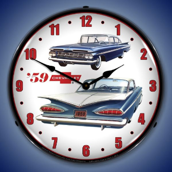 1959 CHEVROLET  BACKLIT LIGHTED CLOCK