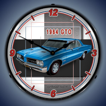 1964 GTO  BACKLIT LIGHTED CLOCK