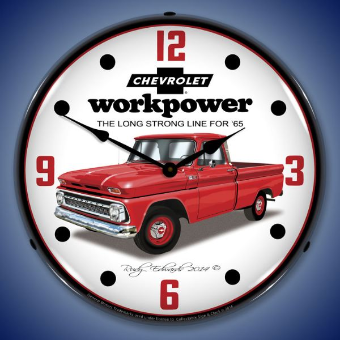1965 CHEVROLET TRUCK  BACKLIT LIGHTED CLOCK