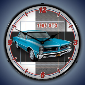 1965 GTO  BACKLIT LIGHTED CLOCK