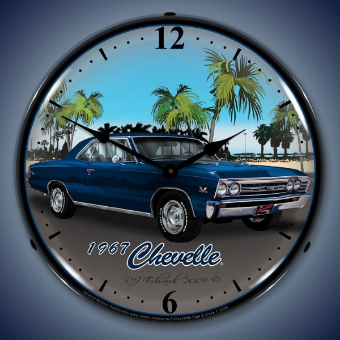 1967 CHEVELLE  BACKLIT LIGHTED CLOCK