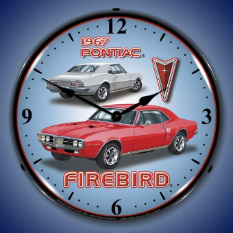1967 FIREBIRD  BACKLIT LIGHTED CLOCK