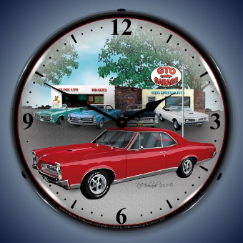 1967 GTO  BACKLIT LIGHTED CLOCK