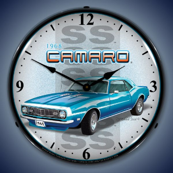 1968 SS CAMARO  BACKLIT LIGHTED CLOCK