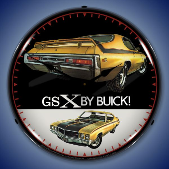 1970 BUICK GSX  BACKLIT LIGHTED CLOCK