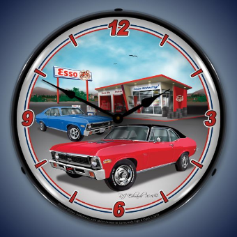 1970 NOVA  BACKLIT LIGHTED CLOCK