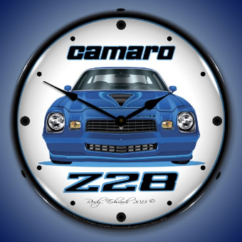 1979 Z28 CAMARO  BACKLIT LIGHTED CLOCK
