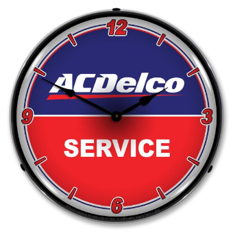 AC DELCO SERVICE BACKLIT LIGHTED CLOCK