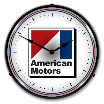 AMERICAN MOTORS  BACKLIT LIGHTED CLOCK