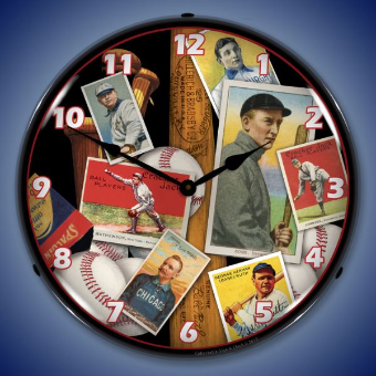 BASEBALL EARLY DAYS  BACKLIT LIGHTED CLOCK