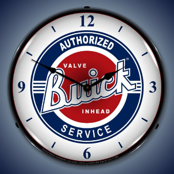 BUICK AUTHORIZED SERVICE BACKLIT LIGHTED CLOCK