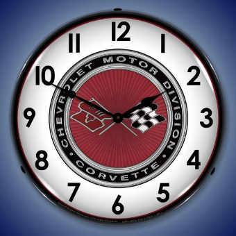 C3 CORVETTE  BACKLIT LIGHTED CLOCK