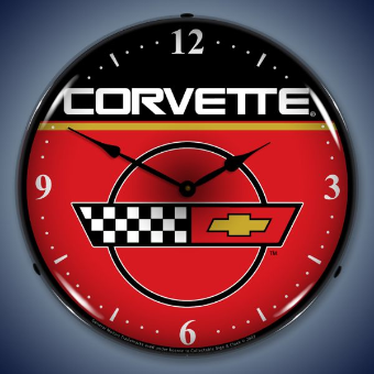 C4 CORVETTE  BACKLIT LIGHTED CLOCK
