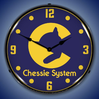 CHESSIE SYSYEM RAILROAD    BACKLIT LIGHTED CLOCK