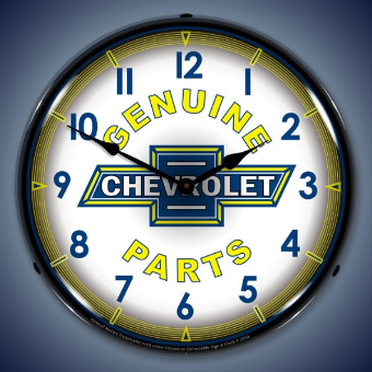 CHEVROLET CHEVY PARTS VINTAGE BACKLIT LIGHTED CLOCK