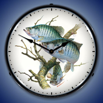 CRAPPIES  BACKLIT LIGHTED CLOCK