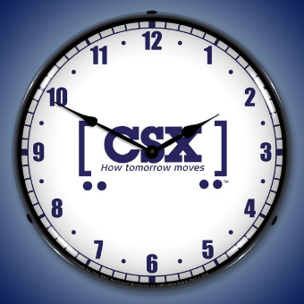 CSX RAILROAD HOW TOMORROW MOVES  BACKLIT LIGHTED CLOCK