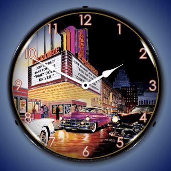 ESQUIRE THEATRE  BACKLIT LIGHTED CLOCK
