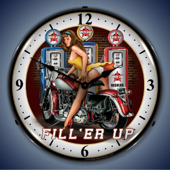 FILL ER UP  BACKLIT LIGHTED CLOCK