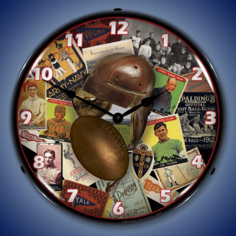 FOOTBALL EARLY DAYS  BACKLIT LIGHTED CLOCK