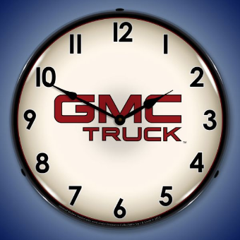 GMC TRUCK  BACKLIT LIGHTED CLOCK
