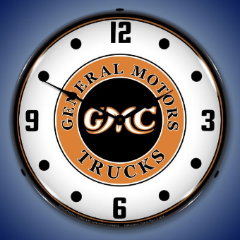 GMC TRUCKS VINTAGE  BACKLIT LIGHTED CLOCK