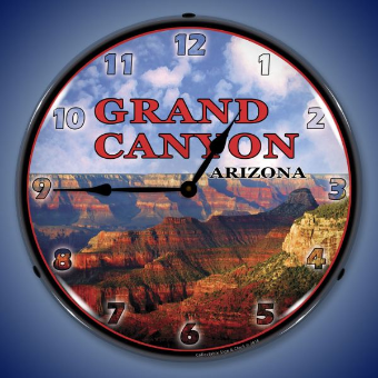 GRAND CANYON  BACKLIT LIGHTED CLOCK