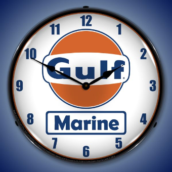 GULF MARINE  BACKLIT LIGHTED CLOCK