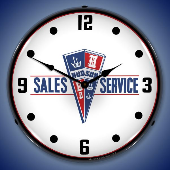 HUDSON SALES AND SERVICE  BACKLIT LIGHTED CLOCK