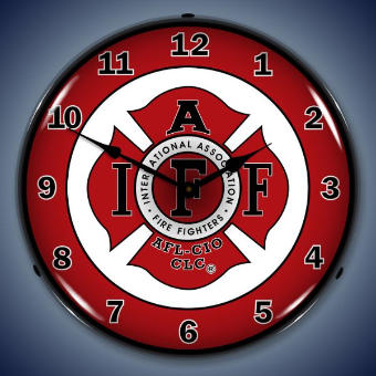IAFF BACKLIT LIGHTED CLOCK