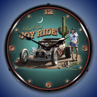 JOY RIDE  BACKLIT LIGHTED CLOCK