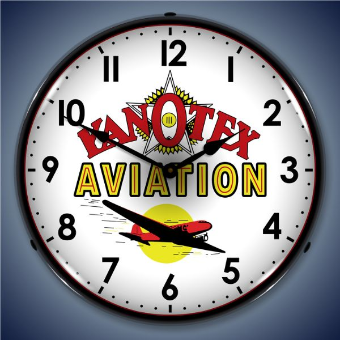 KANOTEX AVIATION  BACKLIT LIGHTED CLOCK
