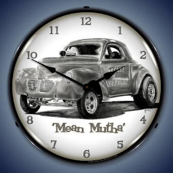 MEAN METHA BACKLIT LIGHTED CLOCK