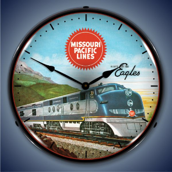 MISSOURI PACIFIC LINES  BACKLIT LIGHTED CLOCK