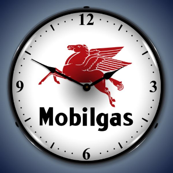 MOBILGAS BACKLIT LIGHTED CLOCK