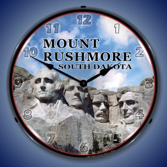 MOUNT RUSHMORE  BACKLIT LIGHTED CLOCK