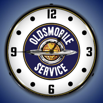 OLDSMOBILE  SERVICE BACKLIT LIGHTED CLOCK
