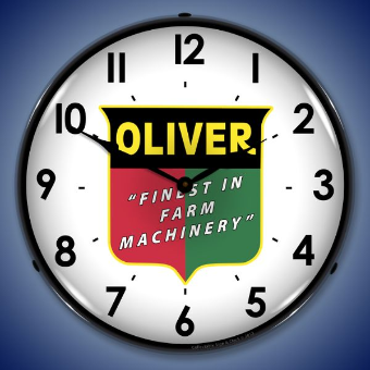 OLIVER FARM MACHINERY  BACKLIT LIGHTED CLOCK