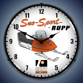 RUPP SNOWMOBILE  BACKLIT LIGHTED CLOCK