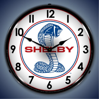 SHELBY COBRA 1  BACKLIT LIGHTED CLOCK