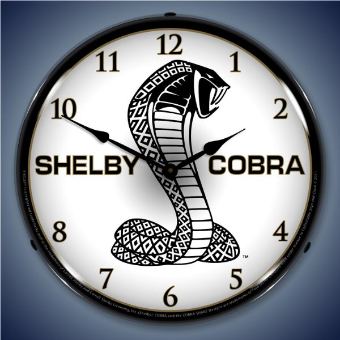 SHELBY COBRA 2  BACKLIT LIGHTED CLOCK