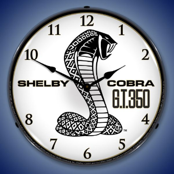 SHELBY  GT350  BACKLIT LIGHTED CLOCK