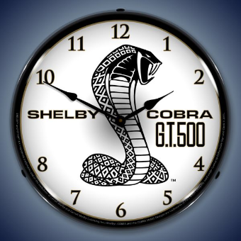 SHELBY COBRA GT500  BACKLIT LIGHTED CLOCK