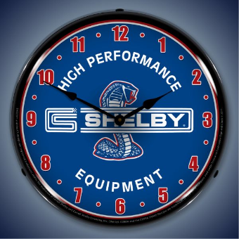 SHELBY HIGH PERFORMANCE EQUIPMENT  BACKLIT LIGHTED CLOCK