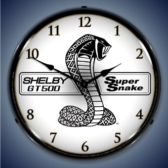SHELBY SUPER SNAKE  BACKLIT LIGHTED CLOCK