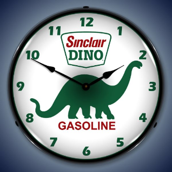 SINCLAIR DINO  BACKLIT LIGHTED CLOCK