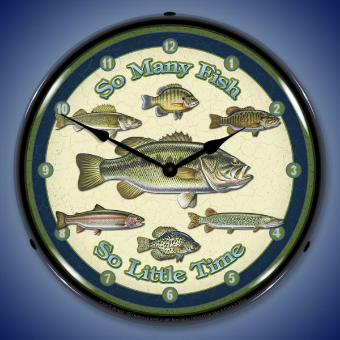 SO MANY FISH  BACKLIT LIGHTED CLOCK