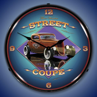 STREET COUPE  BACKLIT LIGHTED CLOCK